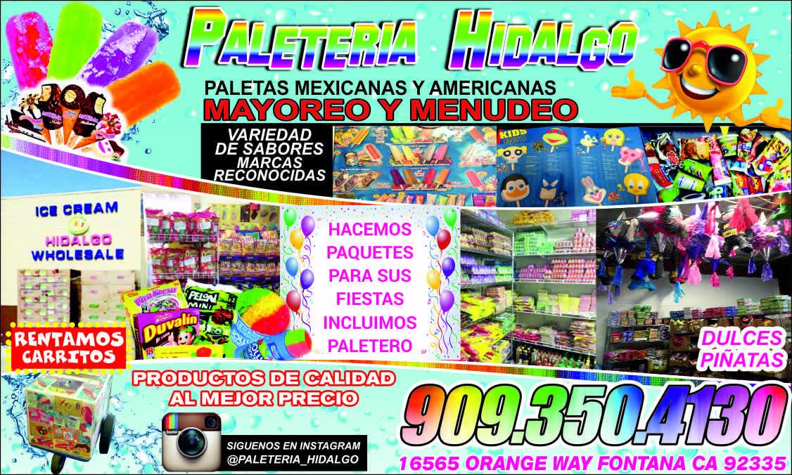 Paleteria Hidalgo Comida Antojos