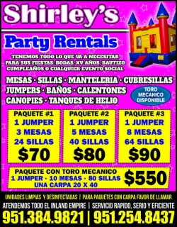 Shirley's Party Rental